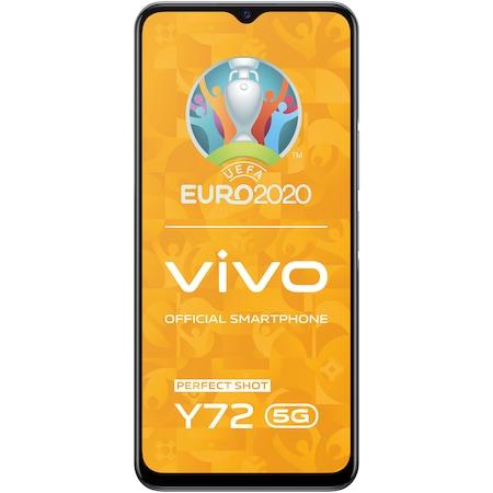 Telefon mobil Vivo Y72, Dual SIM, 8GB RAM, 128GB, 5G, Graphite Black