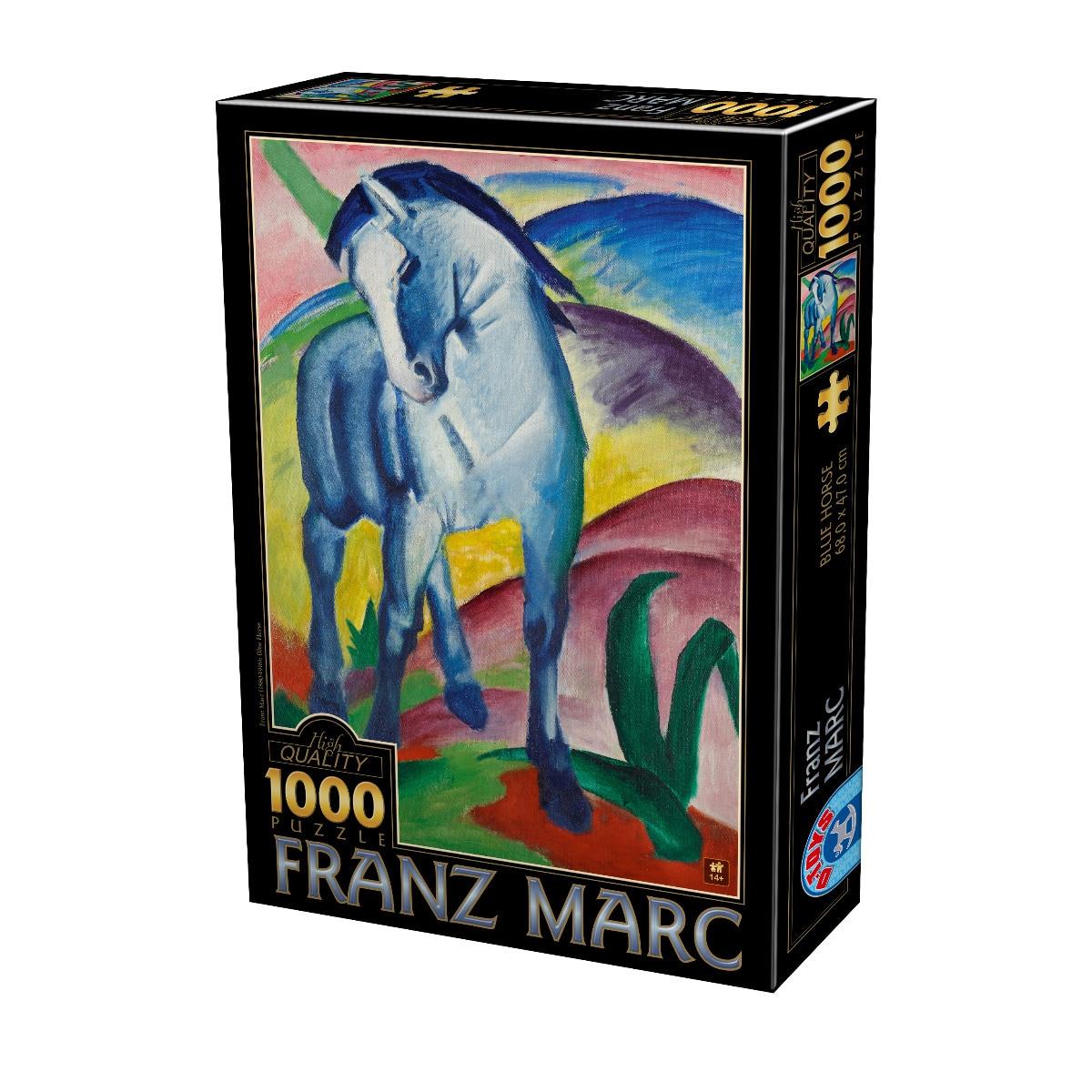 Fotografie Puzzle D-Toys Franz Marc, Cal Albastru, 1000 piese