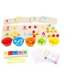 Joc de indemanare si motricitate Invatam numerele de la 1 -10, Lemn, Multicolor