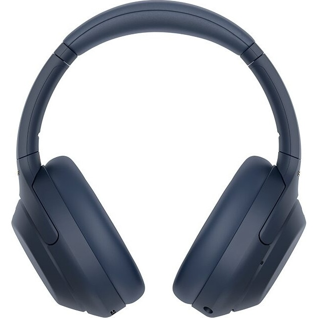 Fotografie Casti Over the Ear Sony WH1000XM4L, Wireless, Bluetooth, Noise cancelling, Autonomie 30 ore, Microfon, Albastru