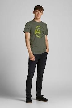 Jack&Jones, Nick normál fazonú póló, Katonai zöld