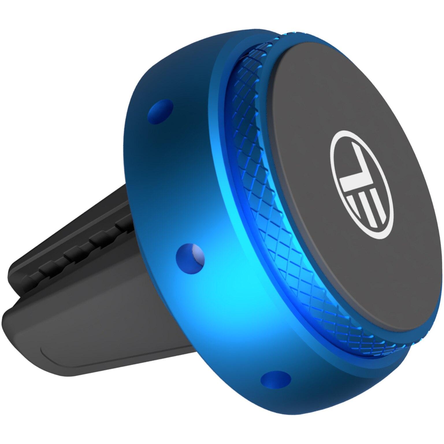 Fotografie Odorizant auto Tellur FreshDot cu suport magnetic de telefon pentru ventilatie , ocean, albastru