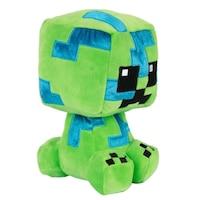 Minecraft Plüss játék, Mega Charged Creeper, Zöld, lányoknak/fiúknak, 3 éves kortól