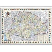 Nagy-Magyarország ( A Magyar Szent Korona országai - 1914 ) falitérkép műanyag léccel, papír (70 cm x 50 cm)