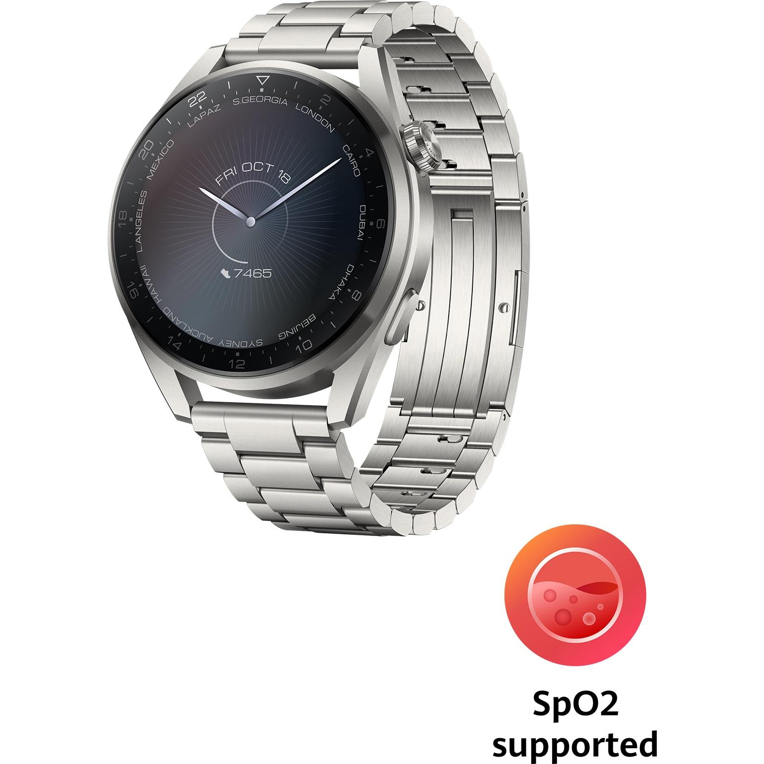 Fotografie Ceas smartwatch Huawei Watch 3 Pro, 48mm, Titanium