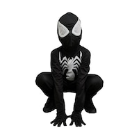 Детски карнавален костюм HuxyMascots Спайдърмен, Черен, размер 122