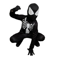 Детски карнавален костюм HuxyMascots Спайдърмен, Черен, размер 104