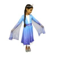 Детски карнавален костюм HuxyMascots Елза, размер 134