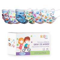 Детски медицински маски, Трислойни, За еднократна употреба, 50 броя