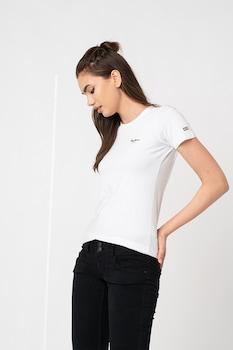 Pepe Jeans London, Esther szűk fazonú póló logós részlettel, Fehér