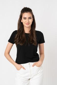 Pepe Jeans London, Esther szűk fazonú póló logós részlettel, Fekete