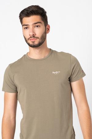 Pepe Jeans London, Original Basic kerek nyakú póló, Katonai zöld, M