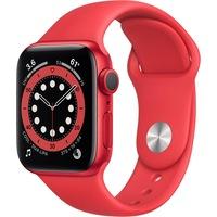 Apple Watch Series 6 GPS 40mm piros alumínium, piros sport szíj EU M00A3