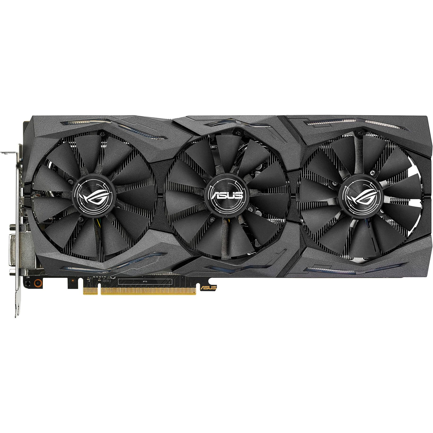 Fotografie Placa video ASUS GeForce GTX 1070 Ti STRIX GAMING A8G, 8GB DDR5, 256-bit