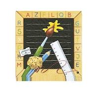 Pachet servetele de masa, ABC Start of School, Hartie 3 straturi, Multicolor, 33 x 33 cm, 20 buc