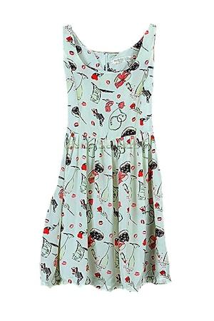 1st fashion Női divat miniruha eb273, Többszínű