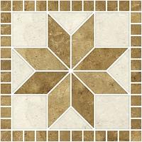 Öntapadós csempe matrica mozaik virág, 3 x 20 x 20 cm