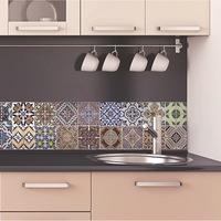 Konyhai falpanel öntapadós, hőálló csempe matrica színes 23,5 X 195 CM