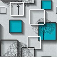 Tapéta DEGRETS 1490 Papír, Nelmi 3D türkiz, Méret: 0.53m x 10.05m = 5.3 m2