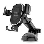 Suport Auto Pentru Telefon Universal Bivier Elegance Pro, Incarcare Wireless Fast Charging Qi 10W - sistem prindere ventilatie/bord/parbriz, Silver