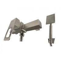 Elefant 8511, Fürdőkád csaptelep, Mixxus zuhany FIT-003, egykaros, rozsdamentes acél