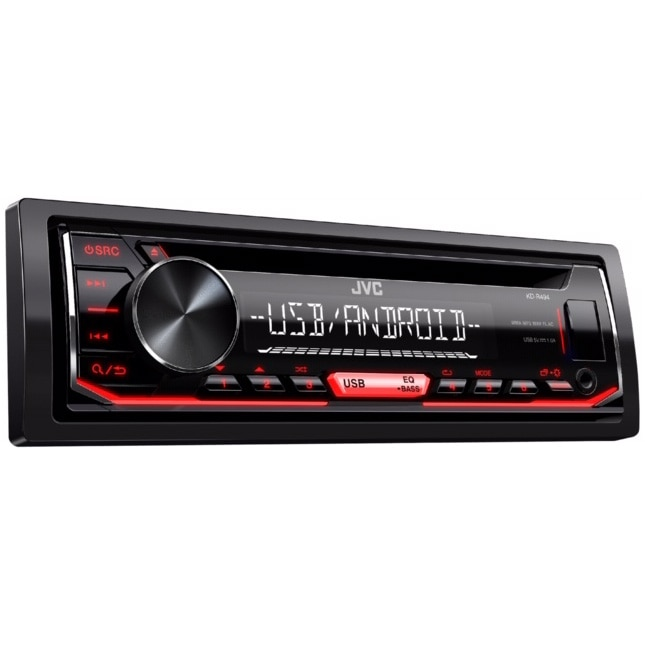 Fotografie Radio CD auto JVC KD-R494, 4x50W, USB, AUX, Subwoofer control, iluminare rosu