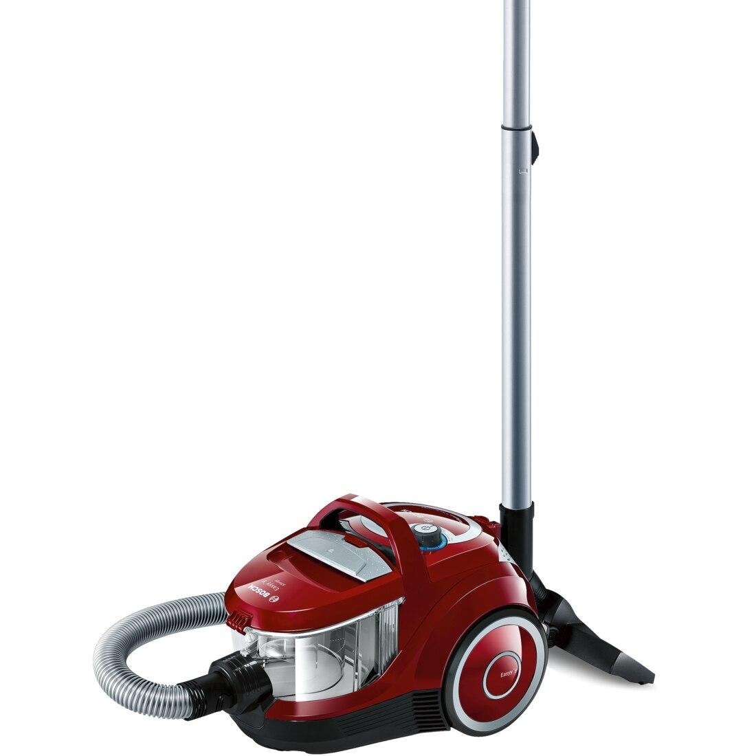 Fotografie Aspirator fara sac Bosch BGC2U230, 700 W, 1.4 l, Cap de aspirare Silent Clean, Filtru Hepa, Rosu
