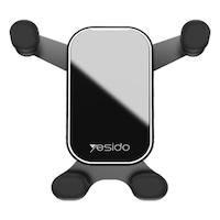 Yesido Autós telefon tartó, szellőzőrácsra szerelhető, 360 forgatással, fekete