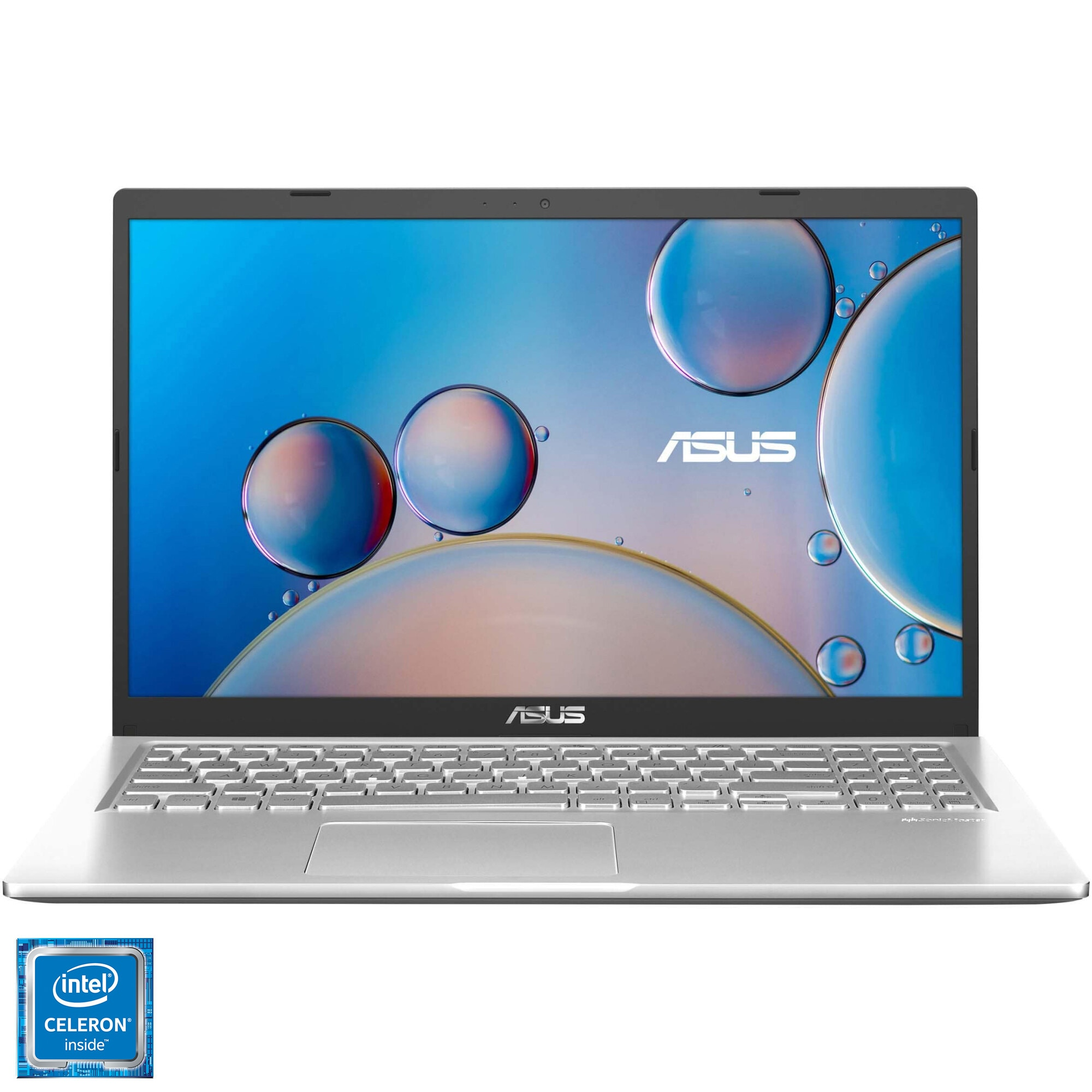 "Fotografie Laptop ASUS X515MA cu procesor Intel® Celeron® N4020, 15.6"", HD, 4GB, 256GB SSD, Intel® UHD Graphics 600, No OS, Transparent Silver"