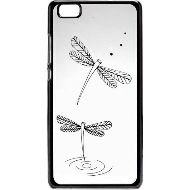 Fotografie Capac de protectie Tellur pentru Huawei P8 Lite, Silicon, Dragon Fly