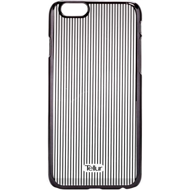 Fotografie Husa de protectie Tellur Cover Hardcase Vertical Stripes pentru iPhone 6/6s, Black