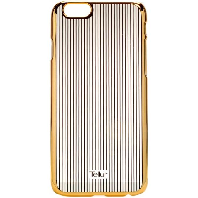Fotografie Husa de protectie Tellur Cover Hardcase Vertical Stripes pentru iPhone 6/6s, Auriu