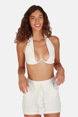 OW Intimates, Sutien cu model uni Towel, Alb