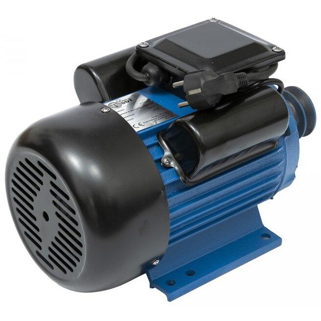 Fotografie Motor electric cu bobinaj din cupru DDT-035, 2200 W, 220 V, 1500 RPM, 24 mm diametru ax, corp din fonta, protectie la suprasarcina