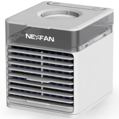 Fotografie Racitor aer portabil Nexfan Air Cooler UV 370633, 10 W, Rezervor 0.5 l, Functie purificare si umidificare, Iluminare LED, 3 trepte de viteza, Alb