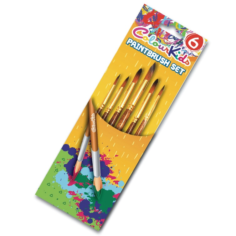 Fotografie Pensule Colour Kids 6/set, varf ascutit