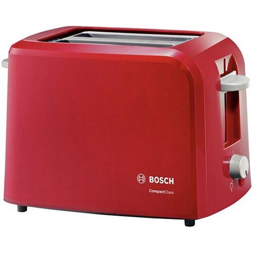 Fotografie Prajitor de paine Bosch TAT3A014, 980 W, 2 felii, Rosu