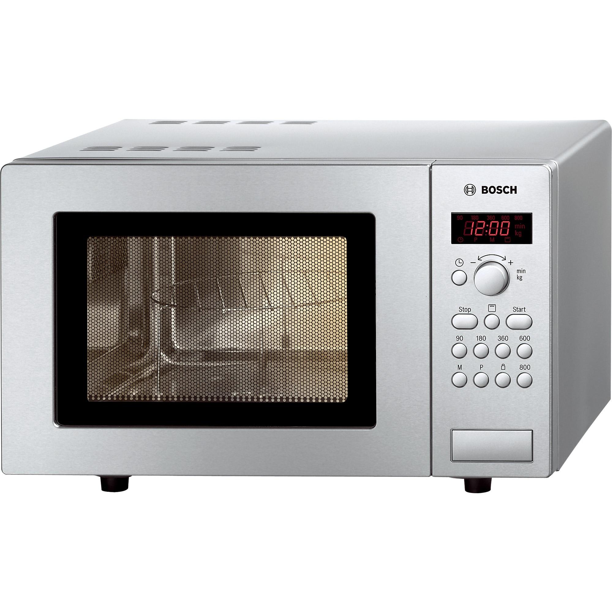 Fotografie Cuptor cu microunde Bosch HMT75G451, grill 1000 W, microunde 800 W, 17 L, dezghetare, Display,