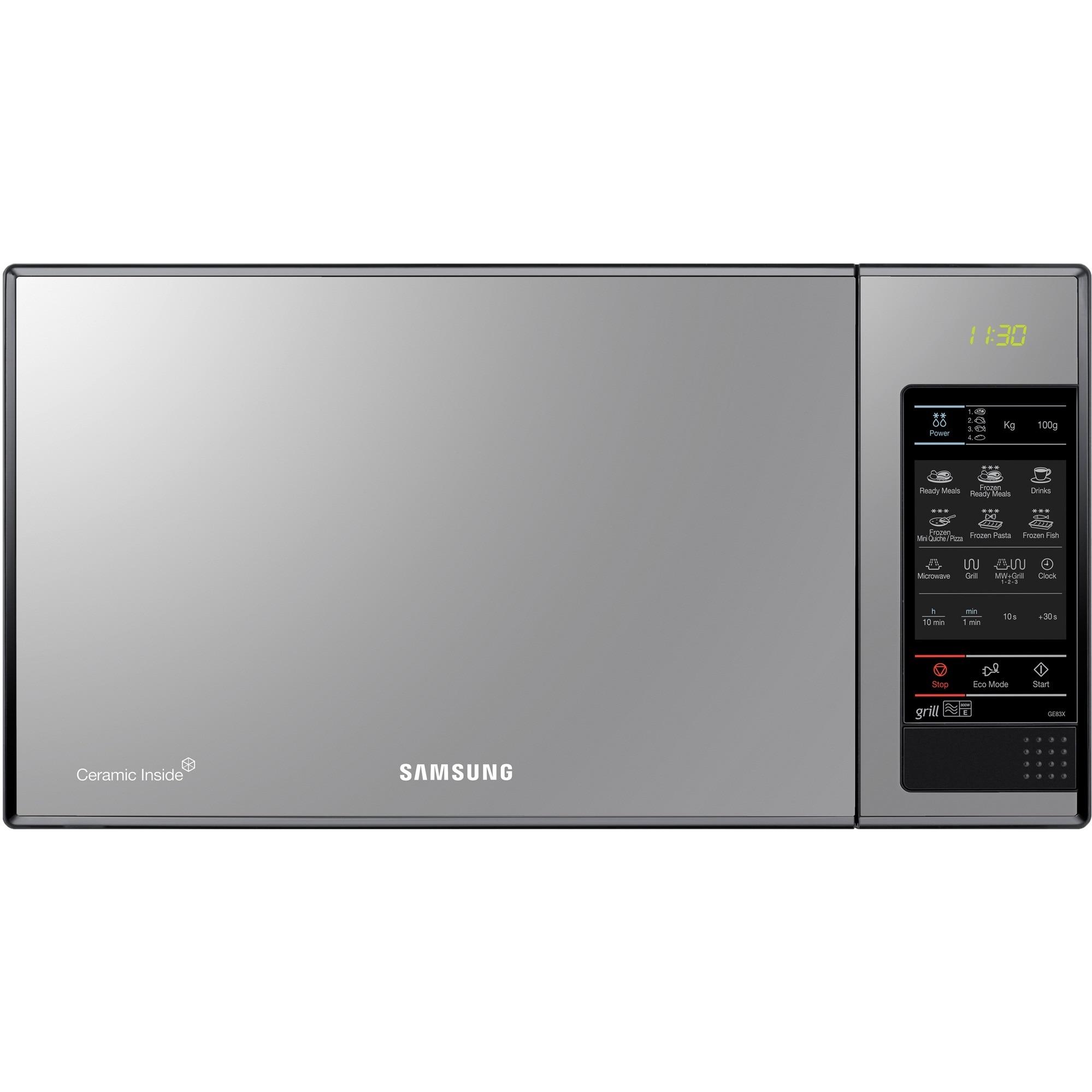 Fotografie Cuptor cu microunde Samsung GE83X, 23L, 800 W, Digital, Grill, Black Mirror