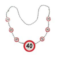 40 -es Sebességkorlátozó Születésnapi Parti Nyaklánc , 40 cm Műanyag