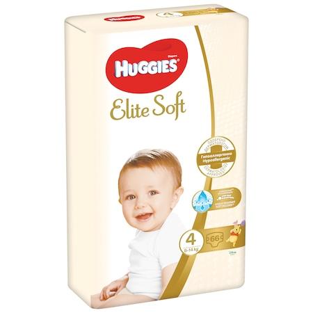 Пелени Huggies Elite Soft 4, 8-14 кг, 66 броя