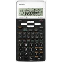 Calculator stiintific Sharp, 10 digits, 273 functiuni, 161x80x15mm, dual power, negru/alb