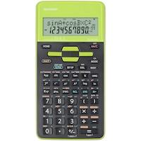 Calculator stiintific Sharp, 10 digits, 273 functiuni, 161x80x15mm, dual power, negru/verde
