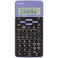 Calculator stiintific Sharp, 10 digits, 273 functiuni, 161x80x15mm, dual power, negru/violet