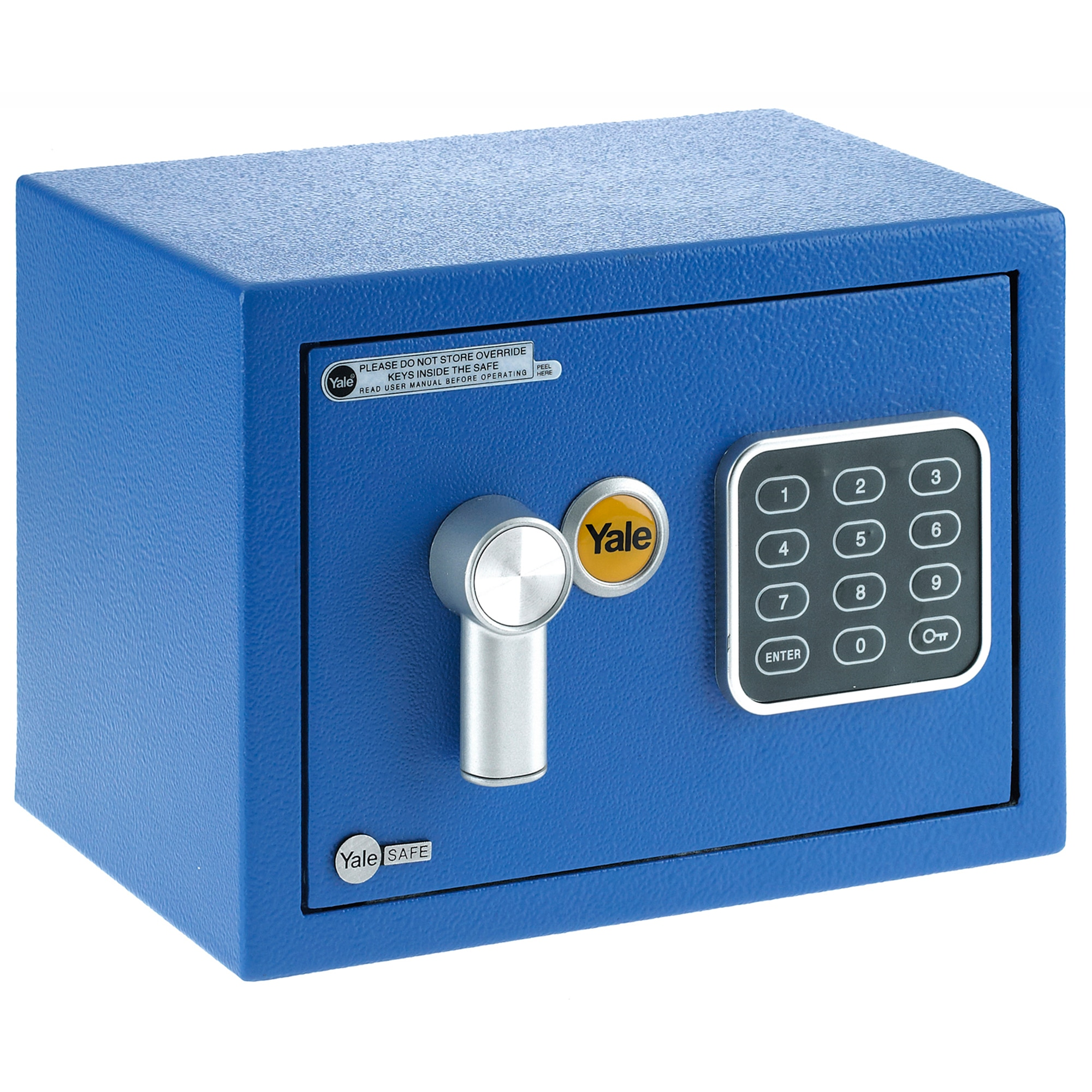 Fotografie Seif electronic standard mini cu cifru Yale YSV/170/DB1/B, 170x230x170 mm, otel, Albastru