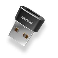 Адаптер Dudao L16AC, USB-C, USB, черен