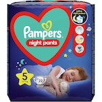 Пелени-гащички Pampers Night Pants, Нощни, Размер 5, 12-17 кг, 22 броя