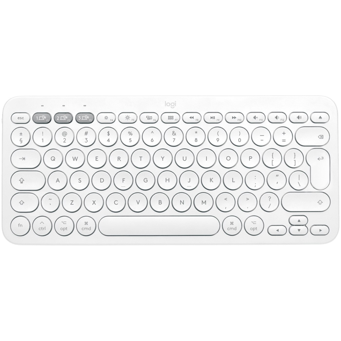 Fotografie Tastatura wireless Logitech K380, US Layout, Bluetooth, Alb