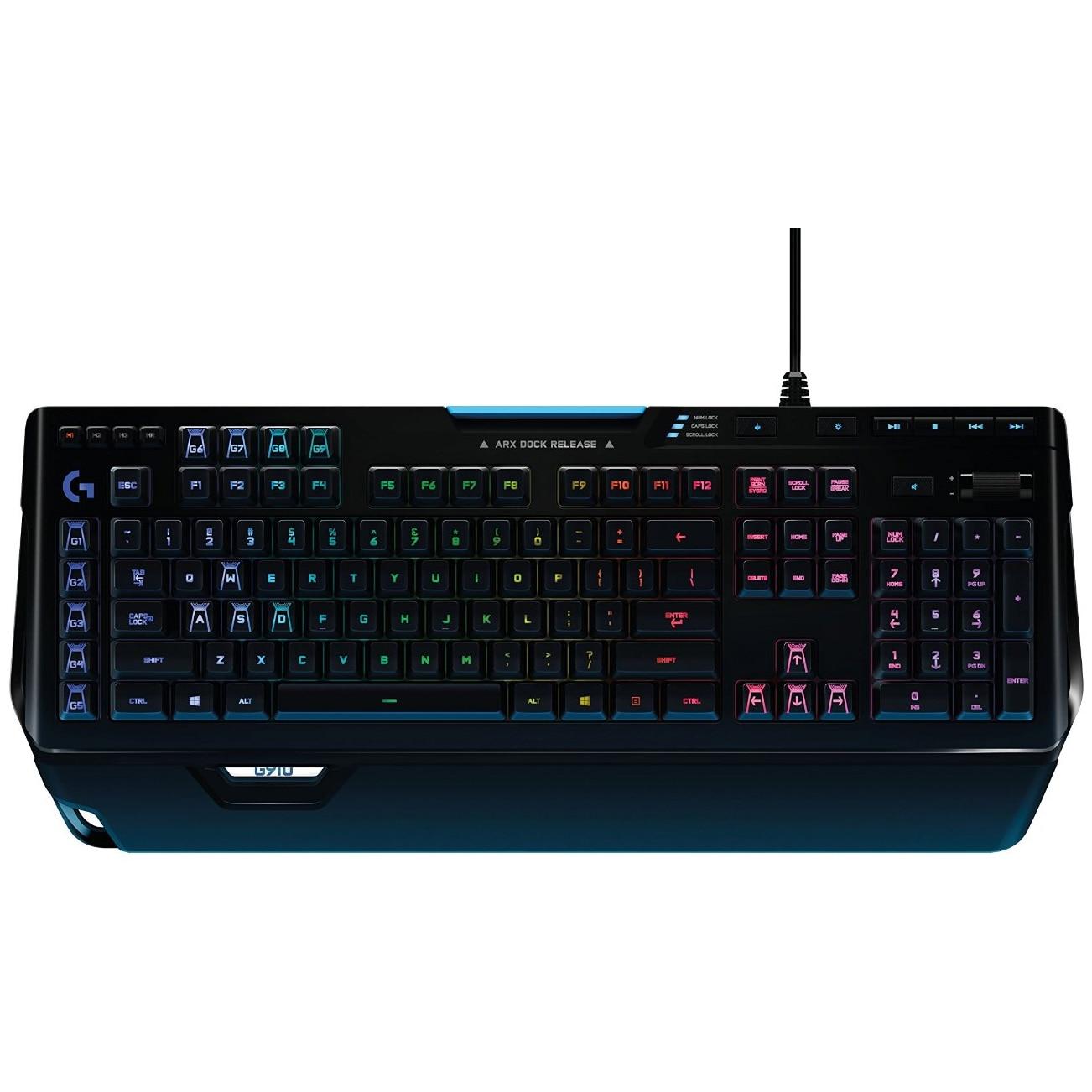 Fotografie Tastatura Gaming Logitech G910 Orion Spectrum RGB, Mecanica, Iluminata, USB, Negru