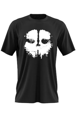 Tricou barbati Call of Duty Black Mask Ghosts Skull, Negru